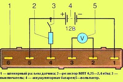 Схему подключения датчиков змз 406