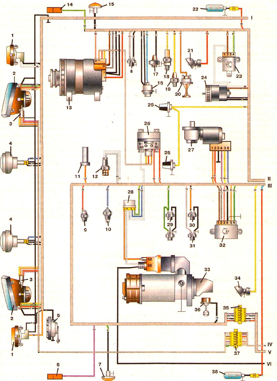 схема электрооборудования на бычок 5301