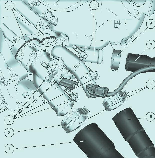 Форд фокус замена термостата своими руками