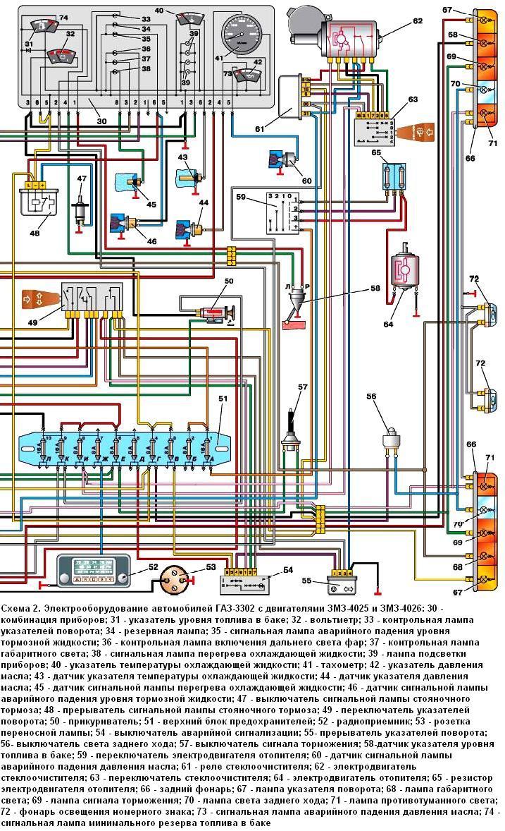 Газ 3302 схема электрооборудования фото 326