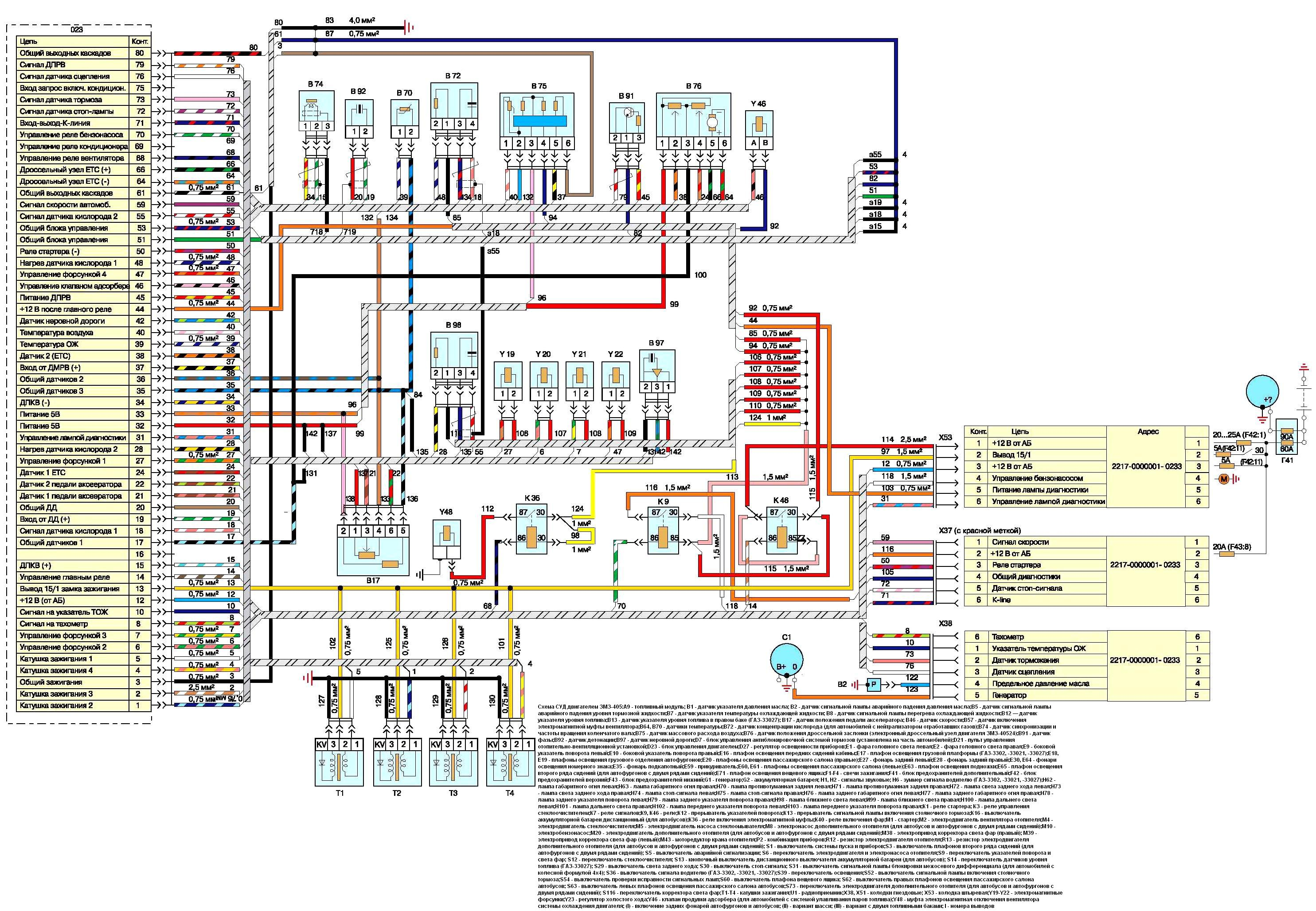 Схема управление двигателем 406 фото 106