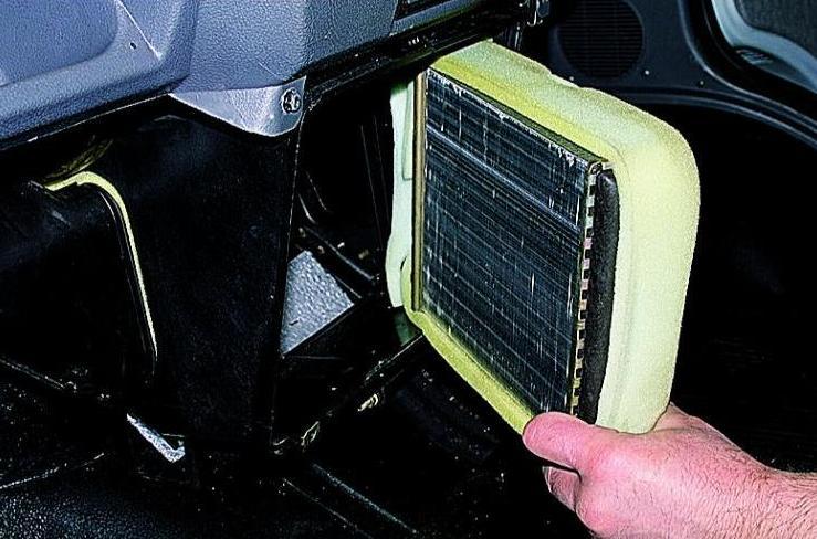 Радиатор печки волга замена
