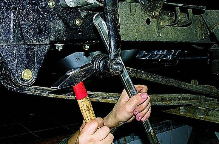 Замена рулевых пальцев газель своими руками 27