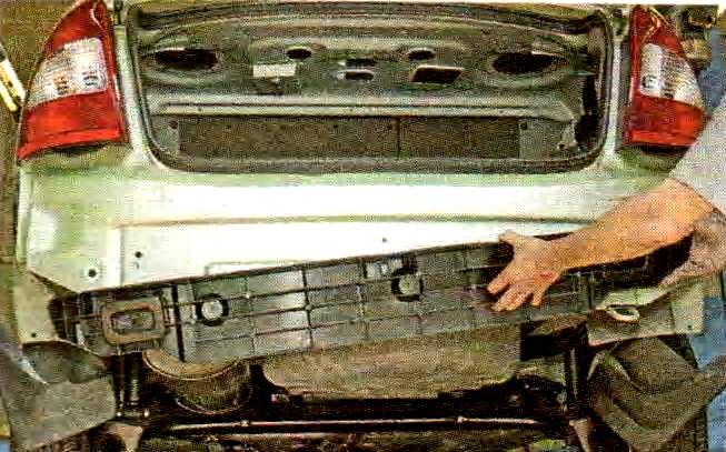 Ремонт бампера калины