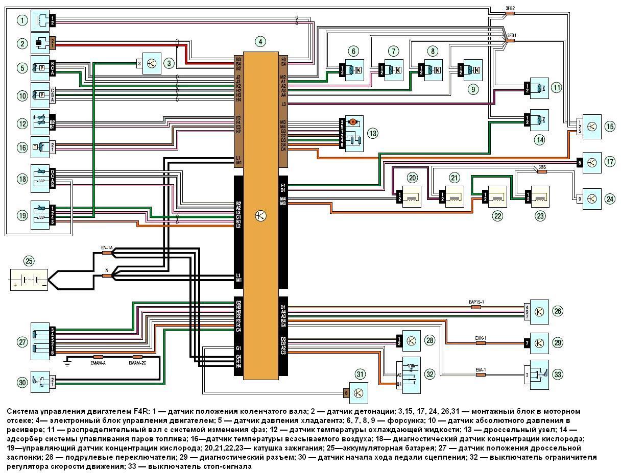 Схема электронного блока управления двигателем фото 568