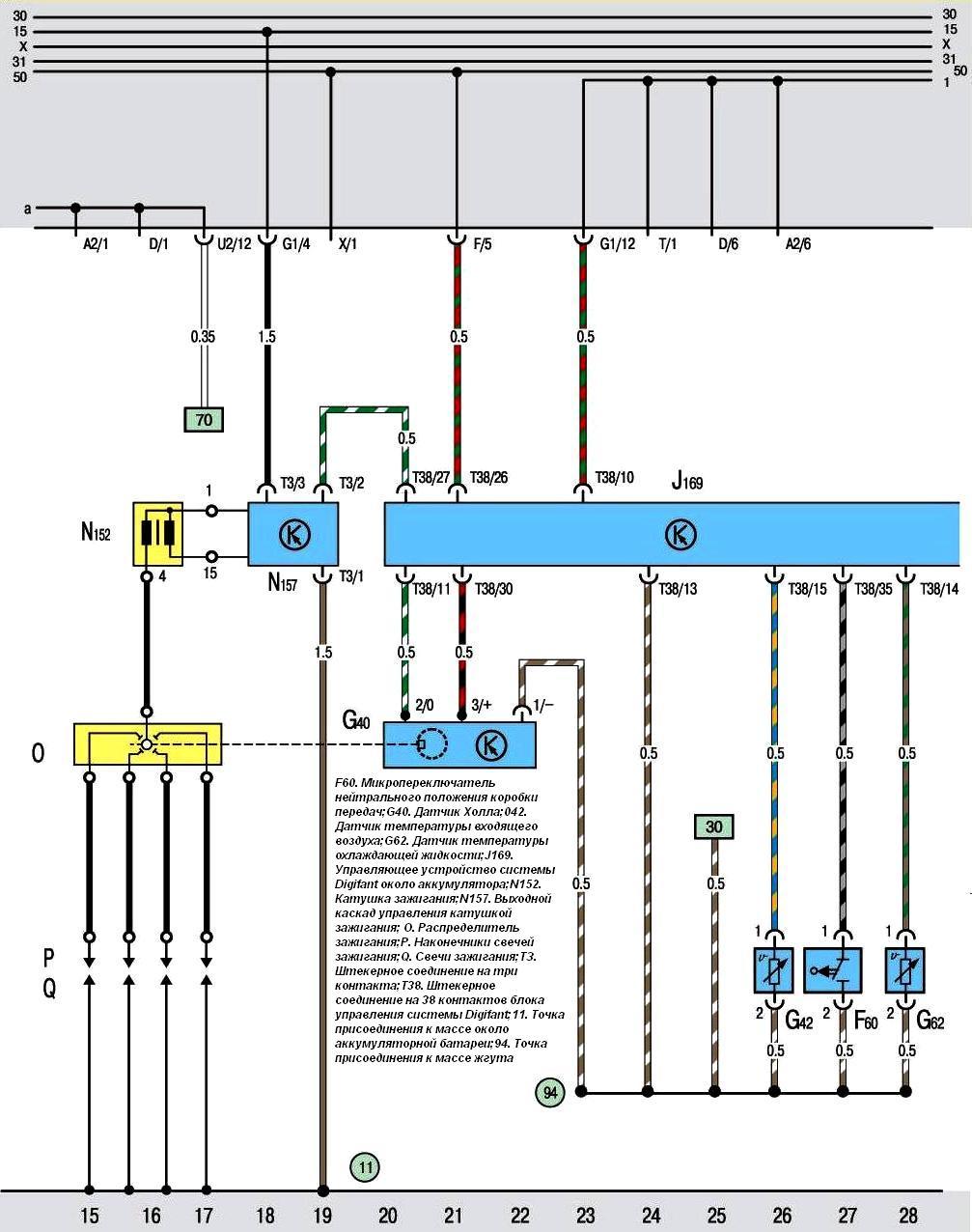 Электросхема транспортер фольксваген клуб транспортер т4
