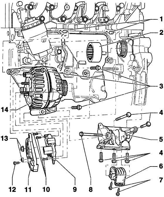 Схема монтажа генератора